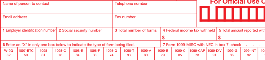Forms Cs 1096 Tax Forms